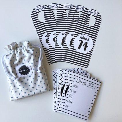 DUO PACK miminkovské kartičky+rozdělovače podle velikosti