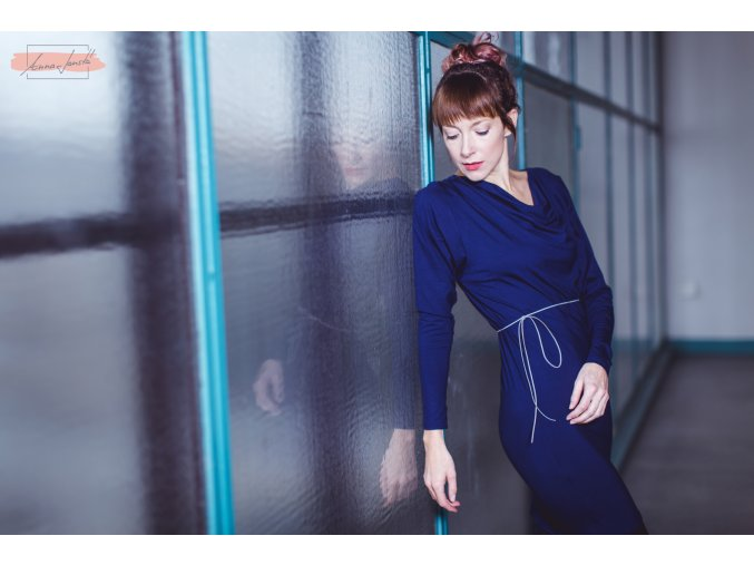 Rosmarina dress blueberry dl ruk 1