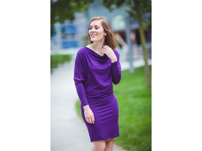 Rosmarina dress dl rukav deep purple