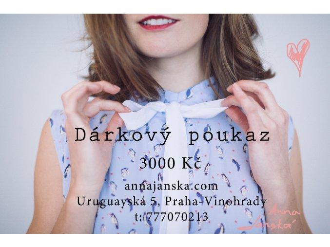 darkovy poukaz novy3000