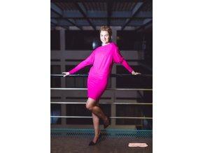 Rosmarina dress long sleeve pink1
