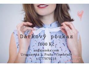 darkovy poukaz novy 1000