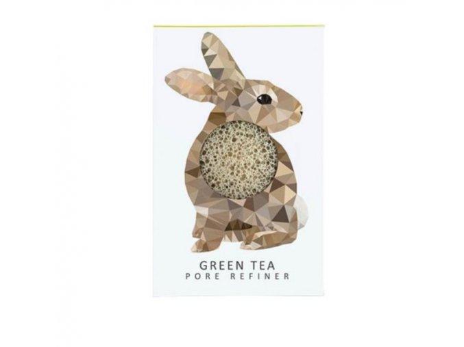 Mini konjac houbička Zajíc se zeleným čajem