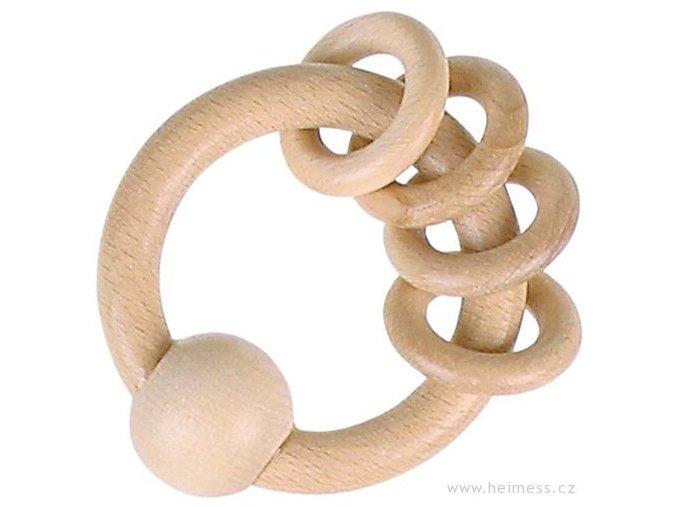 Heimess Dřevěný kroužek s malými kroužky