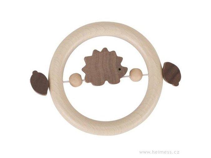 Heimess Dřevěný kroužek JEŽEK
