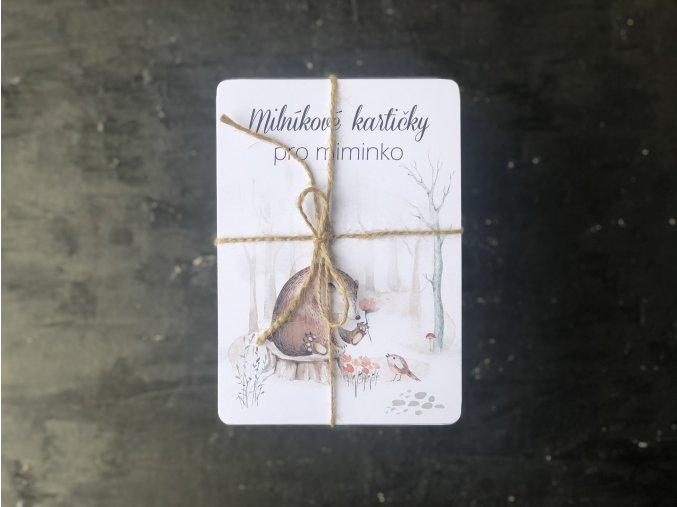 Milníkové kartičky *LESNÍ KRÁLOVSTVÍ*