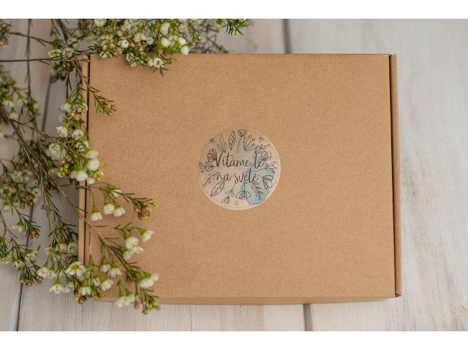 Přírodní krabička s hnědou výplní - Pro chlapečka