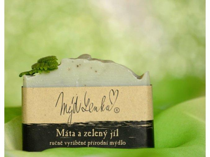 Máta a zelený jíl mýdlo Mýdlenka