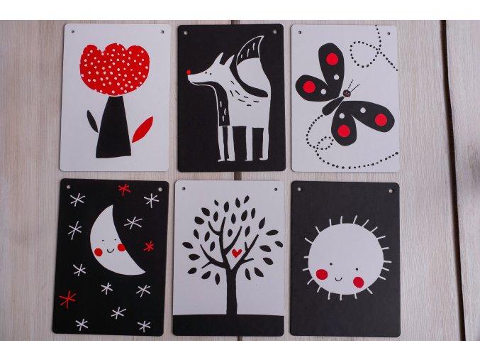 Dětské kontrastní kartičky - Tmavě hořčicový pytlík