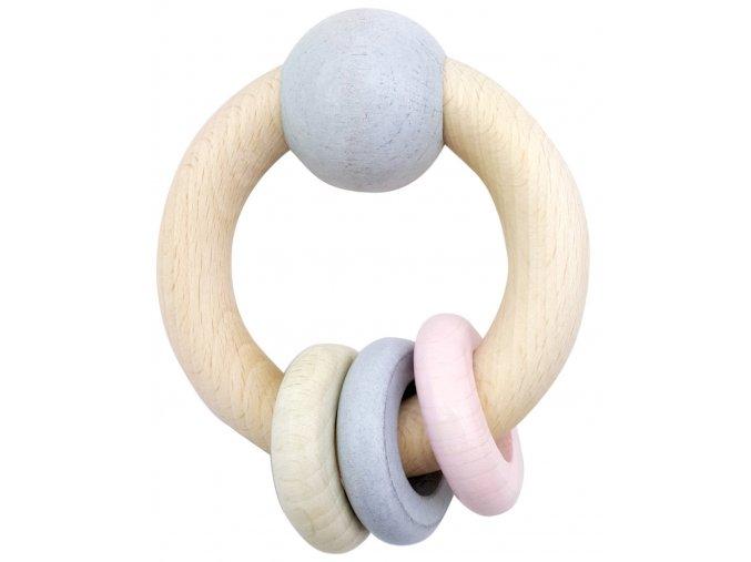 Dřevěný kruh s kroužky ROSA