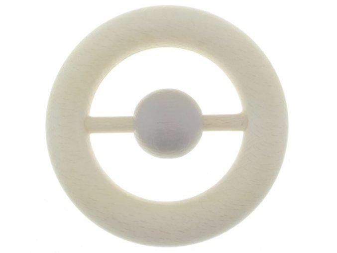 Dřevěná kruh s šedým kroužkem