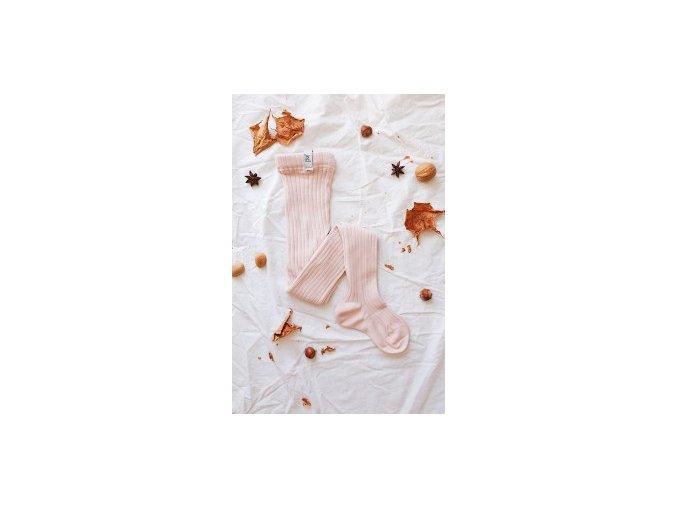Pudrově růžové punčošky