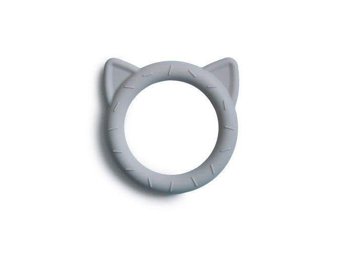 Mushie silikonové hryzátko CAT stone