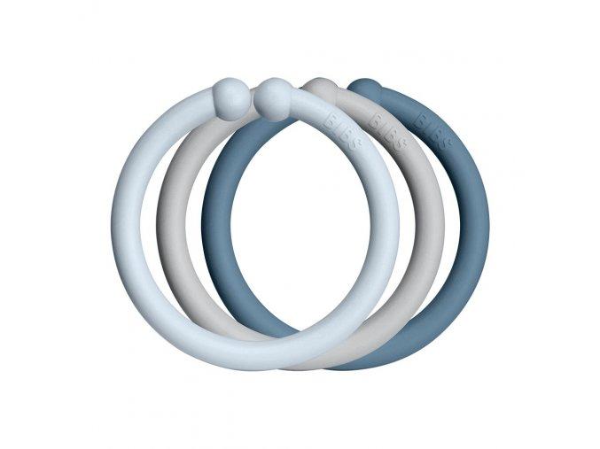 Bibs Loops Kroužky Cloud+BabyBlue+Petrol 1