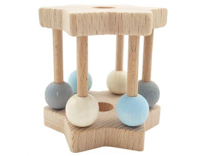 Dřevěné chrastítko *BLUE*