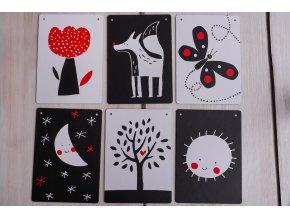Dětské kontrastní kartičky - Tmavě modrý pytlík