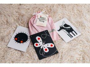 Dětské kontrastní kartičky - Růžový pytlík