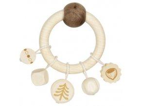 Heimess Dřevěný kroužek s korálky