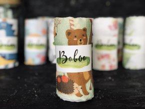 Látková plenka Boboo Handmade Zvířátka v lese