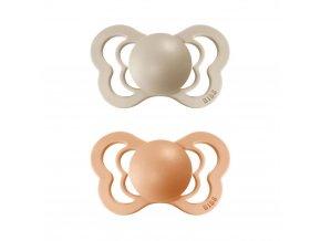 Dudlíček Bibs Couture Vanilla + Peach