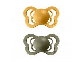 Dudlíček Bibs Couture HoneyBee + Olive