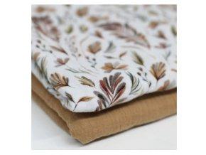 Mušelínová plenka Botanical Leaves 1