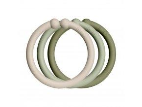 Bibs Loops Kroužky Vanilla+Sage+Olive 1