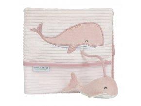 Plyšová knížka velká velryba OCEAN PINK