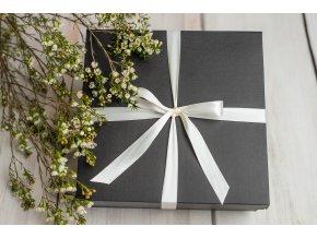 Luxusní černá krabička *SATÉNOVÁ MAŠLE*