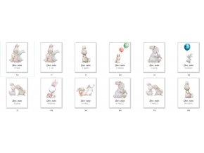 Milníkové kartičky Zajíčci