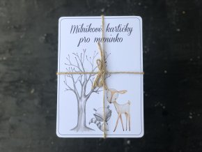 Milníkové kartičky ZVÍŘÁTKA V LESE