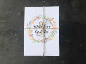 Milníkové kartičky JARNÍ VĚNEC