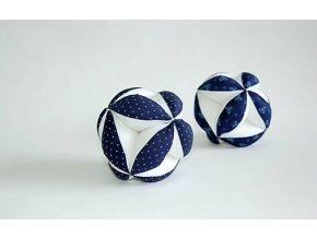 Úchopový míček tmavemodrý bílý puntík