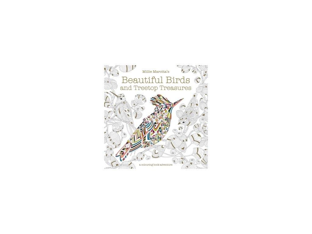 Millie Marotta's Treetop Treasures and Beautiful Birds