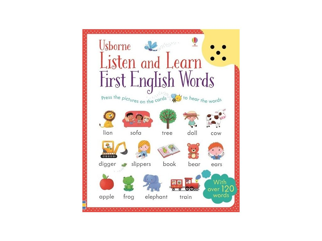 usborne listen and learn first english words w sound panel