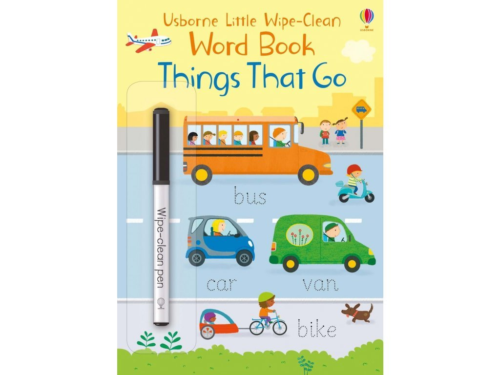 4917 little wipe clean word books things that go