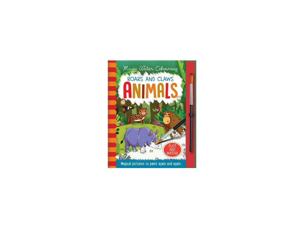 MAGIC WATER COLOURING: ROARS AND CLAWS - ANIMALS