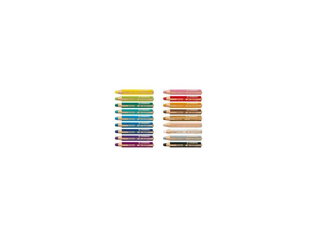 STABILO WOODY 3 in 1 - multifunkční pastelka