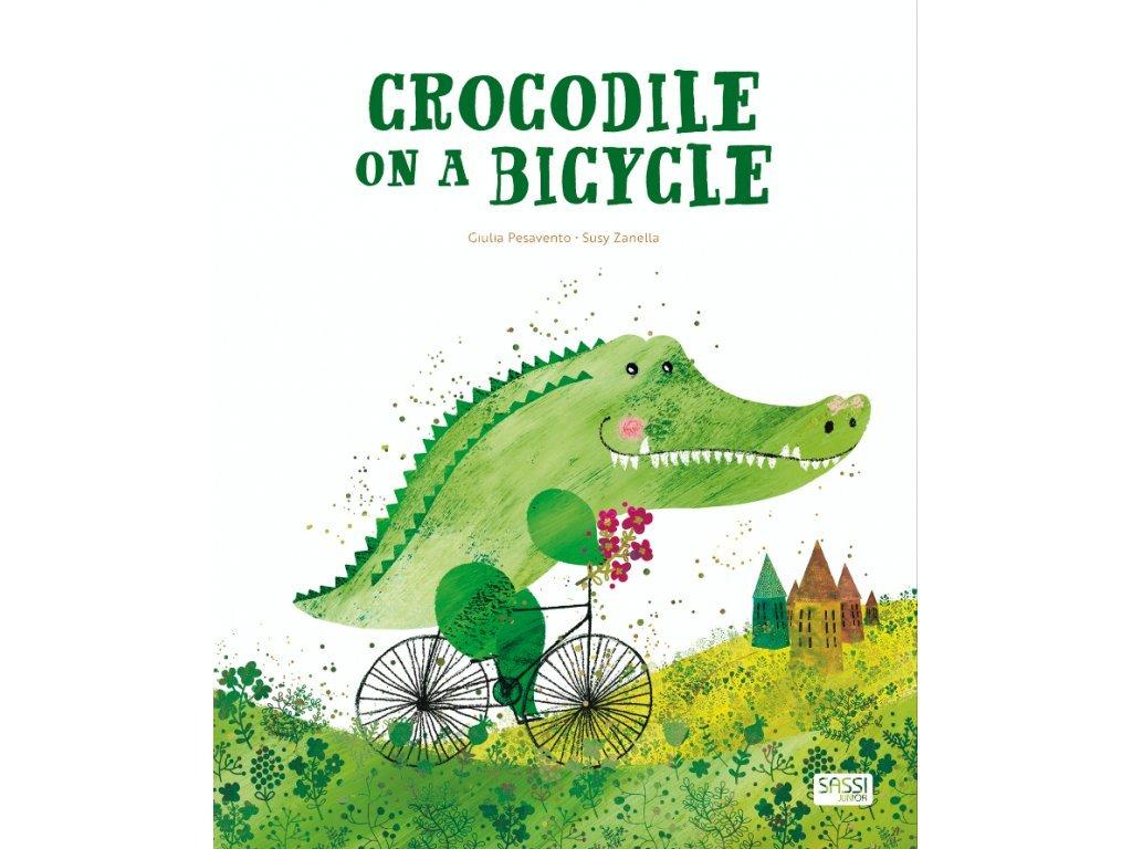 crocodile on a bicycle