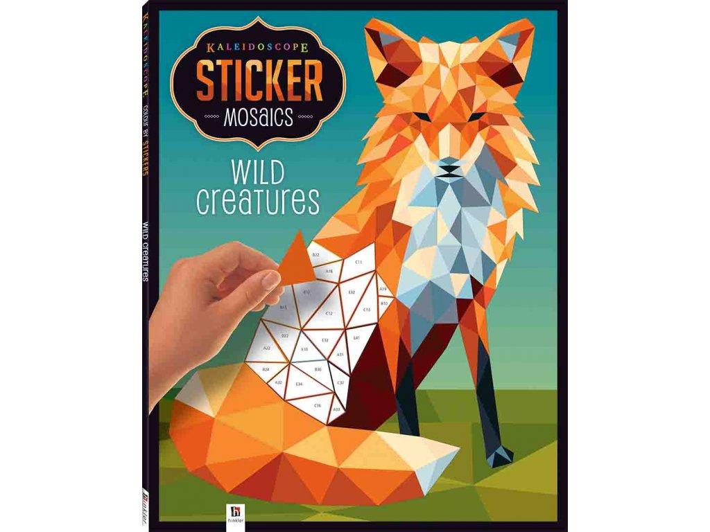 Kaleidoscope Sticker Mosaics: Wild Creatures 7+
