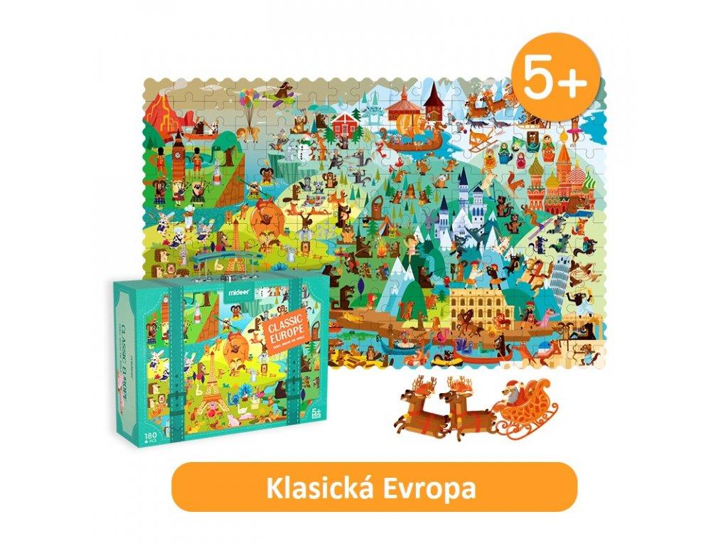 MiDeer Klasická Evropa puzzle 180 ks