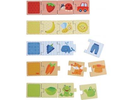Haba Dřevěné puzzle na učení barev a přiřazování 20 ks od 2 let