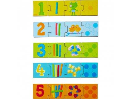 Haba Dřevěné puzzle na učení čísel do 5