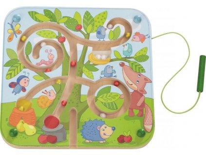 Haba Dětská hra magnetický labyrint s perem Ovocný strom na rozvoj motoriky od 2 let