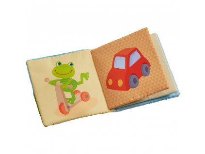 Textilní kniha pro miminka ŽABKA Haba od 6.měsíce