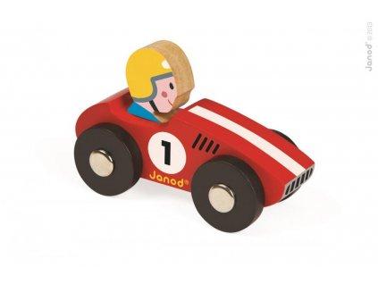 Janod dřevěné auto Story Racing Racer Janod od 1 roku žluté nebo červené