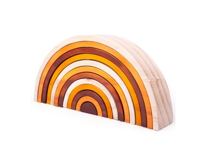 Natural Wooden Stacking Rainbow Large 800x800