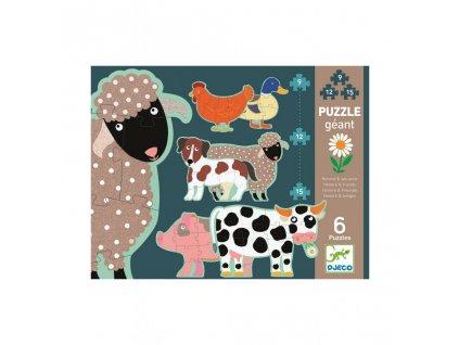 1899 2 djeco puzzle gigant ovecka honore a kamaradi