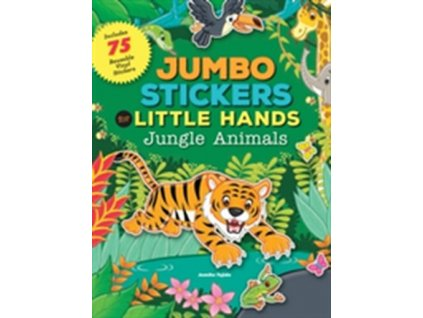 jumbo stickers for little hands jungle animals