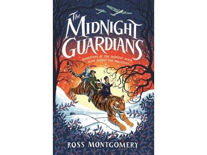 The Midnight Guardians - malinko roztrhnutá obálka na spodní časti přední obálky